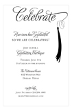 Grad Celebrate Black Invitation