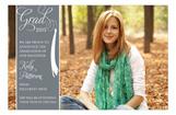 Grad Celebrate Gray Photo Card