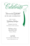 Grad Celebrate Green Invitation