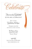Grad Celebrate Orange Invitation