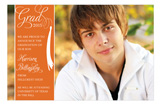 Grad Celebrate Orange Photo Card