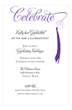 Grad Celebrate Purple Invitation