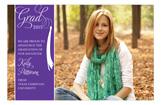 Grad Celebrate Purple Photo Card