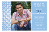 Grad Gown Blue Photo Card