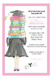 Grad Gown Pink Invitation