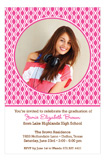 Grad Patterned PnkChoc Photo Card