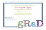 Grad Patterned Tutti Invitation