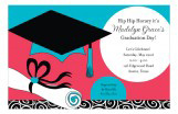 Grad Swirls Invitation