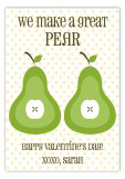 Great Pear Valentine Card