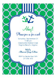 Green and Blue Nautical Monogram