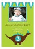 Green and Teal Dino-Mite Photo Invitation