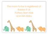 Green Animal Monogram Enclosure Card