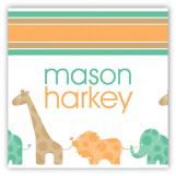Green Animal Monogram Gift Tag