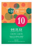 Green Circus Circles Invitation