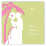 Green Coastal Couple Gift Tag