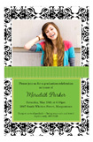 Green Damask Photo Card