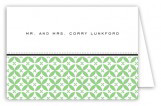 Green Elegance Folded Note Card