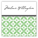 Green Elegance Square Sticker