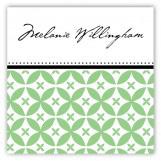 Green Elegance Square Sticker