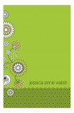 Green Floral & Lace Notepad