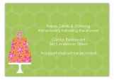 Green Flying Floral Enclosure Card