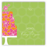 Green Flying Floral Gift Tag