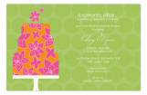 Green Flying Floral Invitation