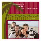 Green Holiday Palm Photo Card
