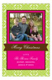 Green Holiday Sweater Photo Card