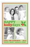 Green Holly-Day Photo Card