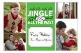 Green Jingle Bell Photo Card