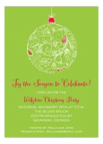 Green Lace Ornament Invitation