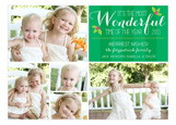 Green Most Wonderful Collage Photo Card