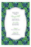 Green Navy Fern Invitation