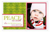 Green Peace on Earth Photo Card