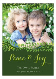 Green Peaceful Holiday Vines Photo Card