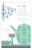 Green Sip and See Tea Invitation