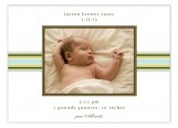 Green Striped Photo Card