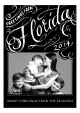 Greetings From Florida Black Family Photo Cards