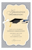 Grey and Yellow College Graduation Announcement