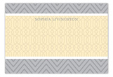 Grey and Yellow Flat Note Card
