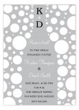 Grey Champagne Bubbles Invitation