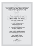 Grey Cross Background Invitation