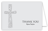 Grey Cross Background Note Card