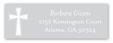 Grey Cross Banner Address Label