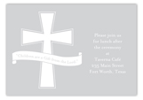 Grey Cross Banner Enclosure Card