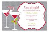 Grey Holiday Spirits Invitation