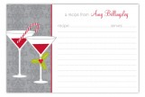 Grey Holiday Spirits Recipe Card