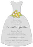Grey Lovely Floral Invitation