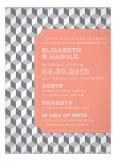 Grey Stepping Blocks Invitation